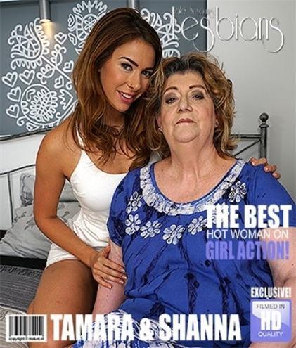 Ani Blackfox (24), Tamara B. (59) - Big mature lesbian has sex with a hot young babe 1080p