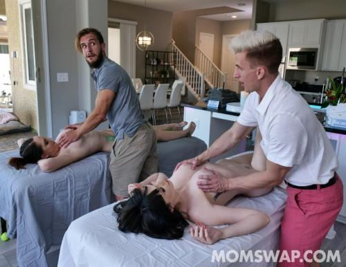 April Storm & Nickey Huntsman - Stepmoms's Massage Treat  1080p