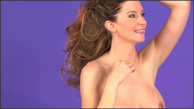 David-nudes.com- Debbie presents Purple Pantie Strip