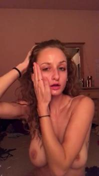20 year old trying to Tinder fuck tight pussy with big dildo